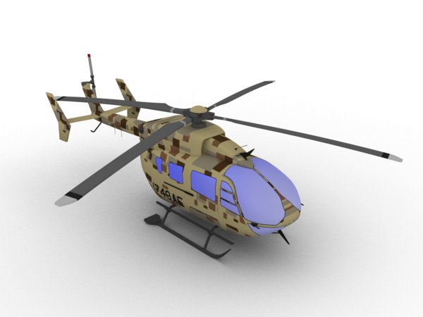 3D uh-72 lakota model