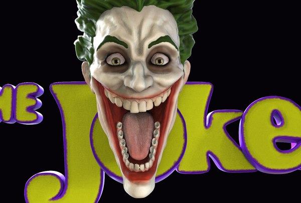 joker logo toon 3D model