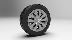 nissan altima hubcaps 3D model