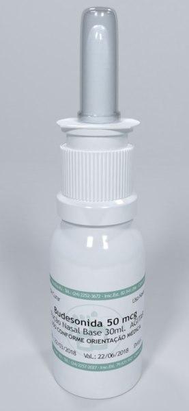 nasal spray label clear plastic 3D model
