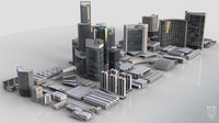 3D kitbash city kit