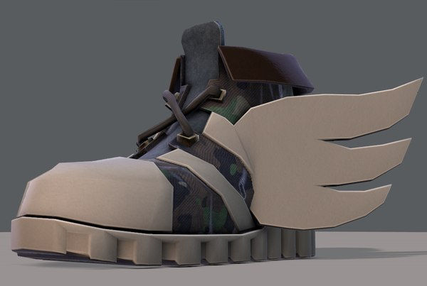 3D shoes cartoonv13 character cartoon