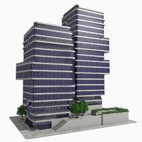 - modern building block 3D model