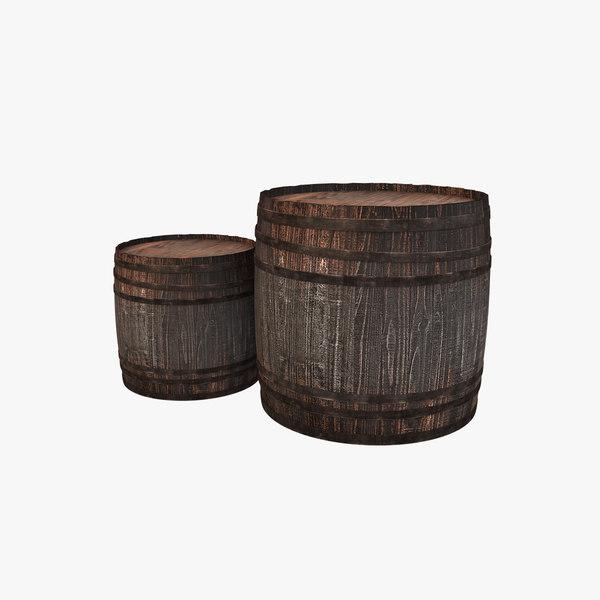 3D model container barrel cask