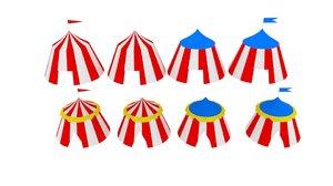 tent circus 3D model