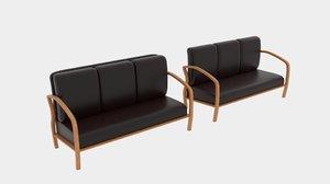 curve sofa 3D model