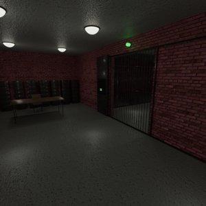3D model prison blend