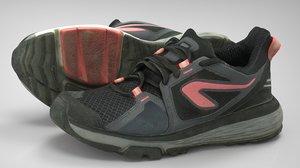 female sport sneakers 3D
