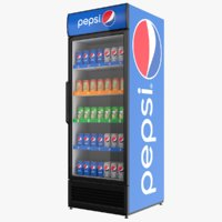 3D filled pepsi fridge