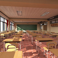 3D highschool classroom