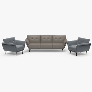 grazia sofa chair 3D model