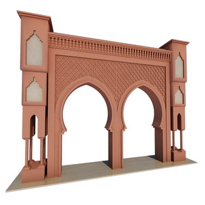 3D traditional moroccan door fes model