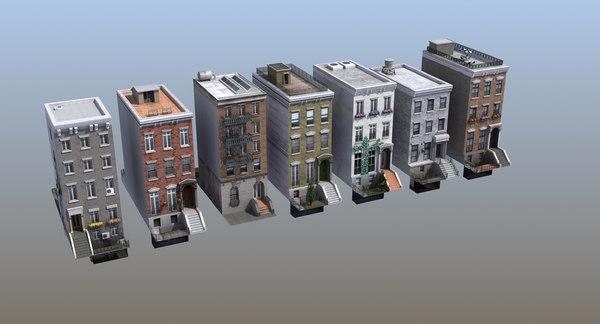 3D row houses games