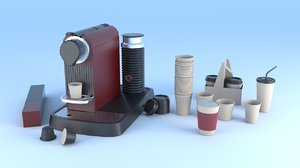 3D espresso machine coffee capsule