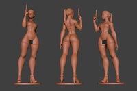woman gun 2 print 3D model