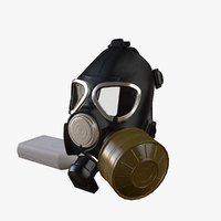 3D gas mask gp-7vmb model