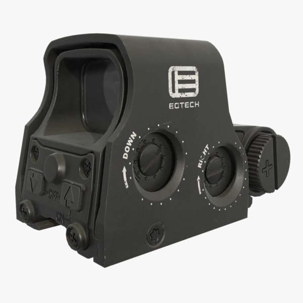 3D model holographic weapon sight