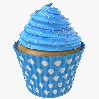 3D cupcake modeled