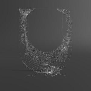 web letter u 3D