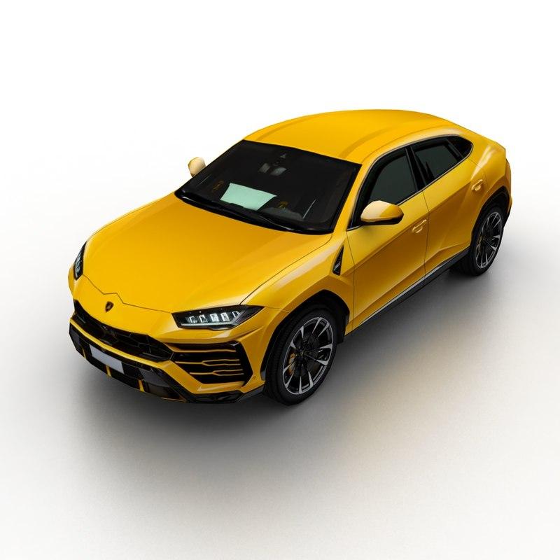 2019 Lamborghini Urus 3D Model