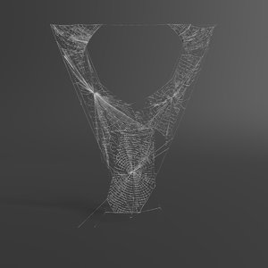 web letter v 3D