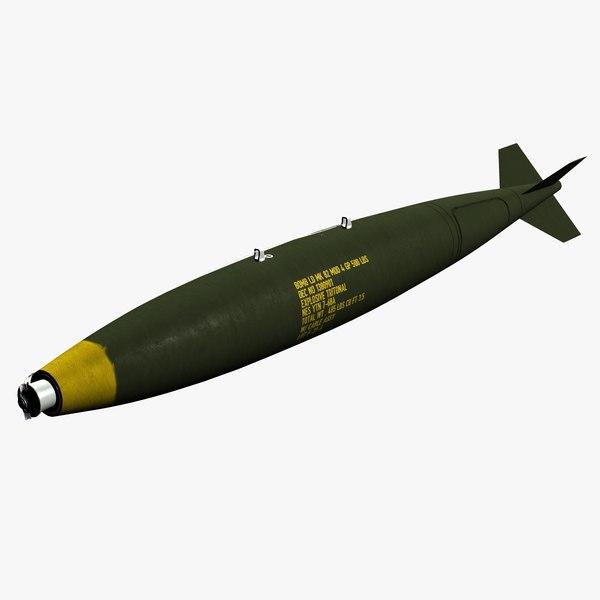 3D model drag bomb