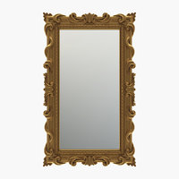 Curved rectangle mirror