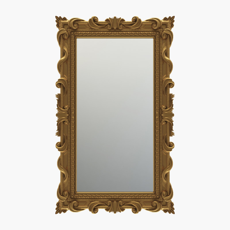 curved rectangle mirror 3D