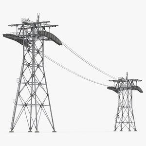 gondola lift towers cables model