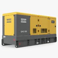 industrial diesel generator atlas 3D model