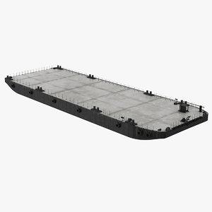 3D flat barge model