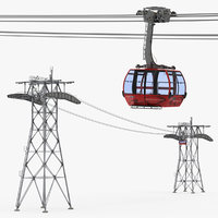 peak 2 gondola lift 3D model