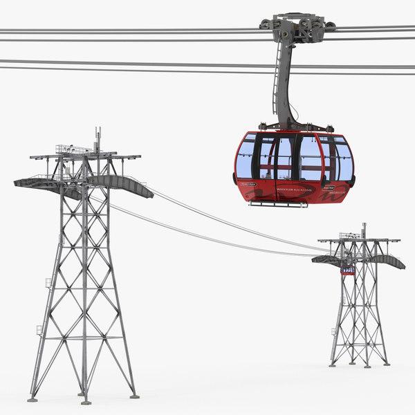 peak 2 gondola lift 3D model