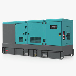 3D industrial power diesel generator model