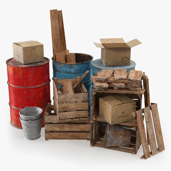 3D scrap stacked debris model