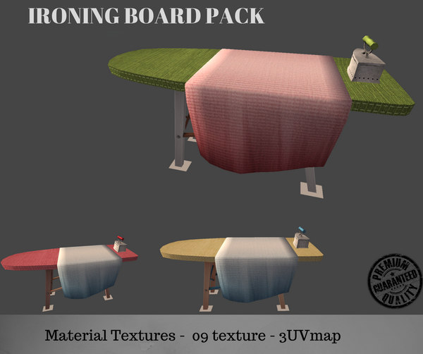 3D ironing board pack kit