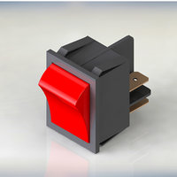 power switch red 3D model