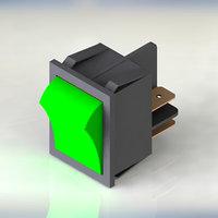 3D power switch green model