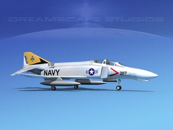 3D mcdonnell douglas f-4 phantom model