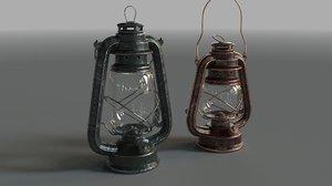kerosene lamp bat 3D model