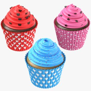 cupcakes modeled 3D