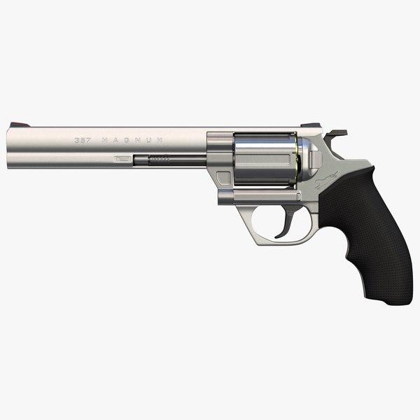 concept revolver caliber 357 magnum 3D model