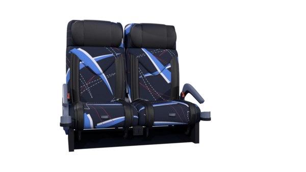 bus seats 3D model