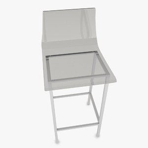 3D acrylic stool model