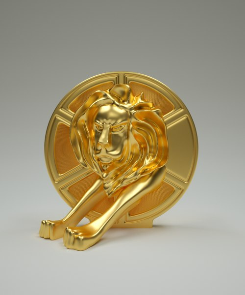 3D lion cannes model