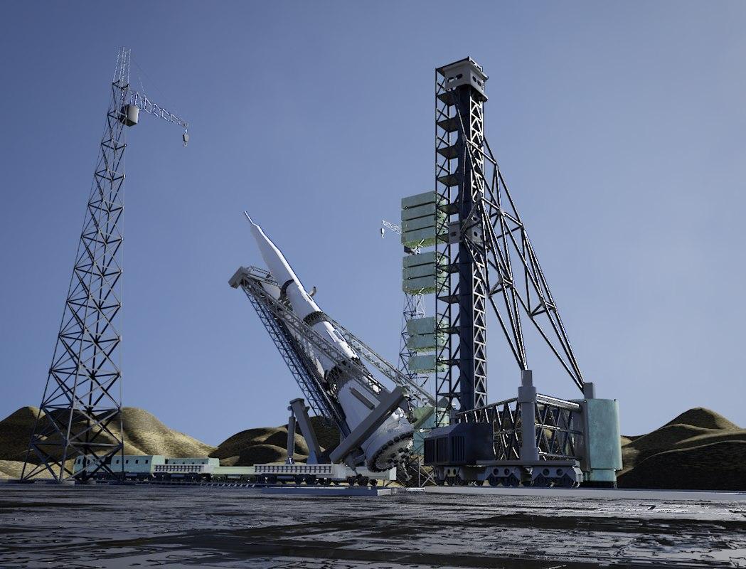3D rocket launch model