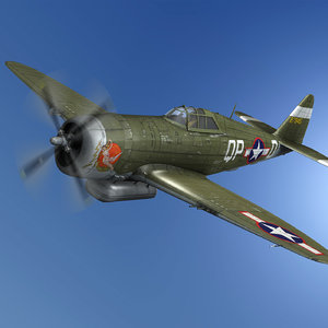 republic p-47d thunderbolt - model
