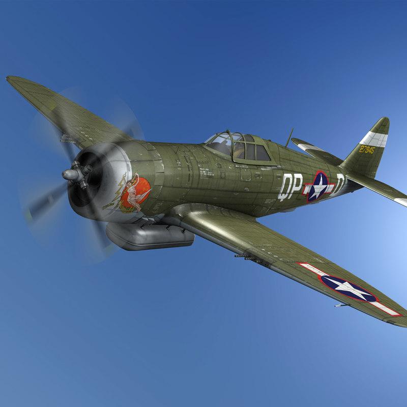 republic p-47d thunderbolt - model