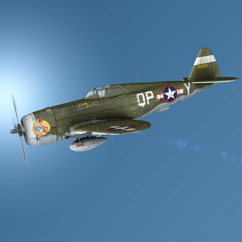 republic p-47c thunderbolt - 3D model