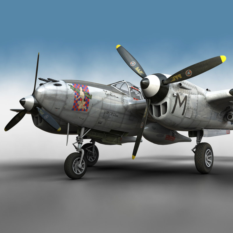 3D lockheed lightning -